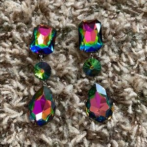 Colorfully clip-on earrings